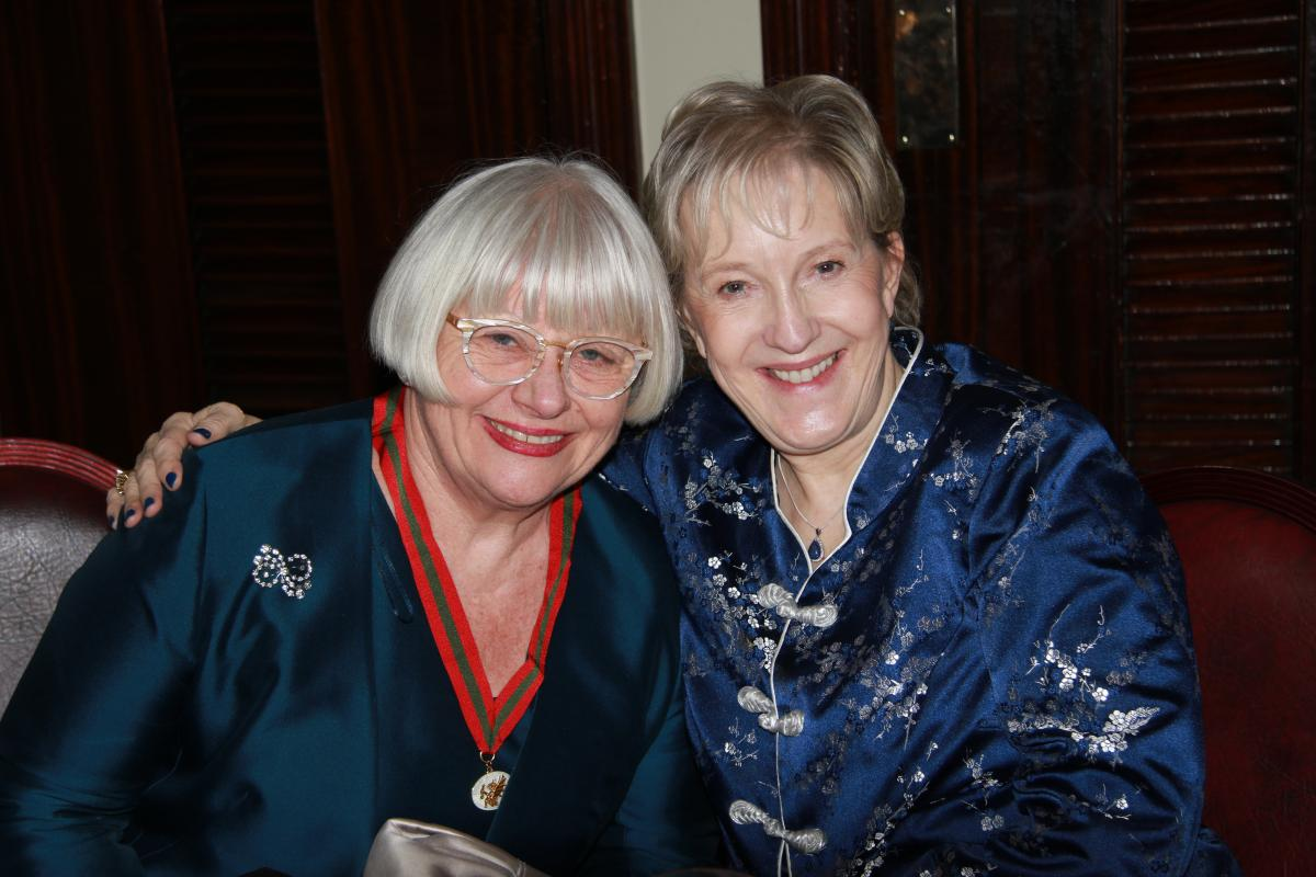 Gwen and Christine at Welsh Livery Dinner